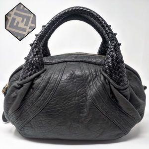 FENDI Mini Spy Bag Black Napa Leather Italy GUC!